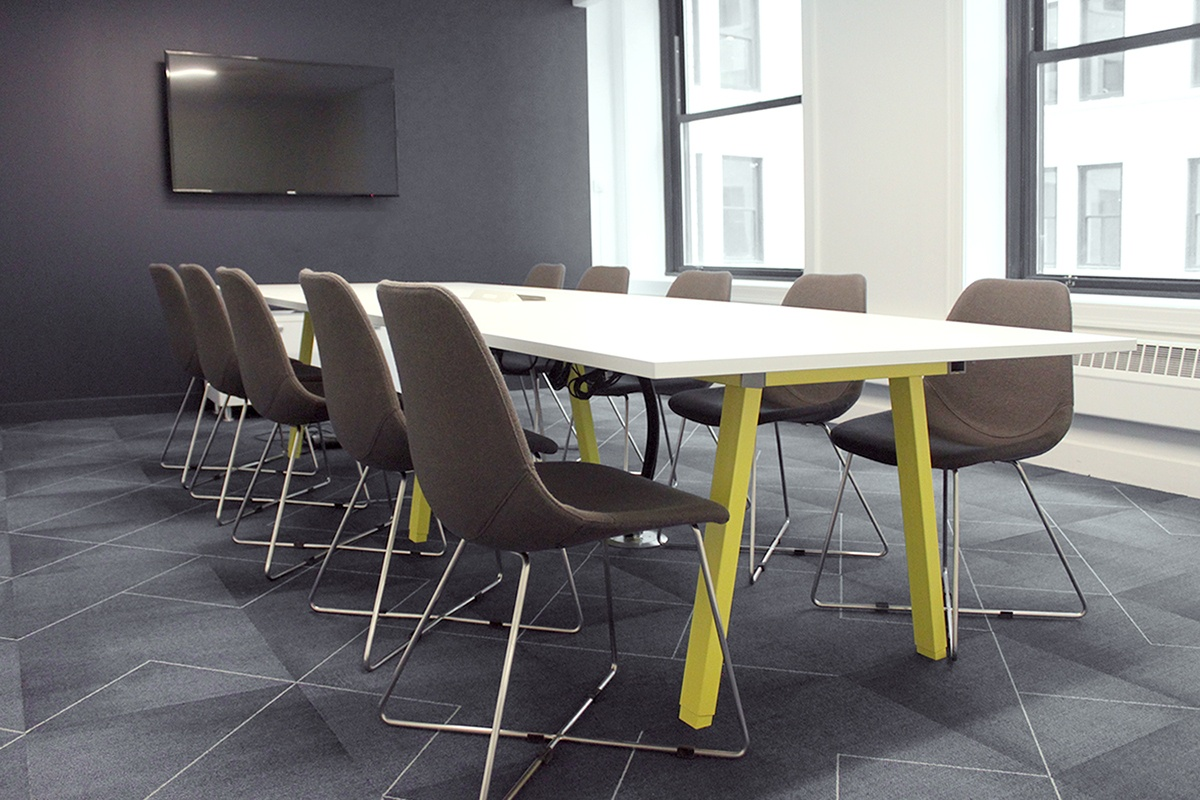 A modern conference space.