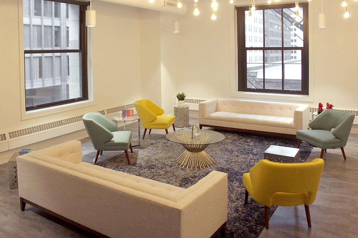 A reception/breakout space.