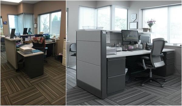 Reception Desk: Before & After