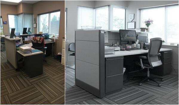 Reception Desk: Before & After