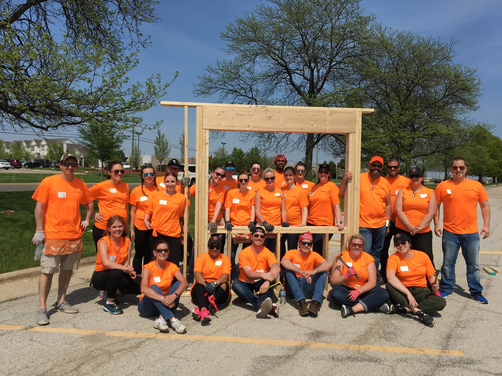 Rightsize Helps Build Habitat for Humanity Home