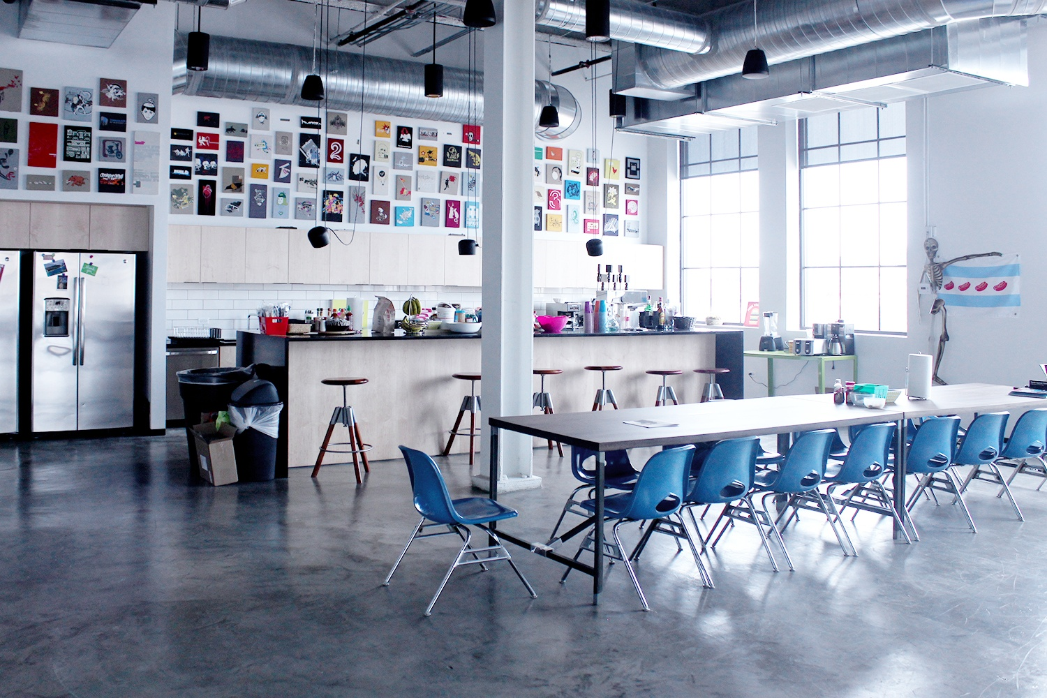 The open concept offices at Threadless.