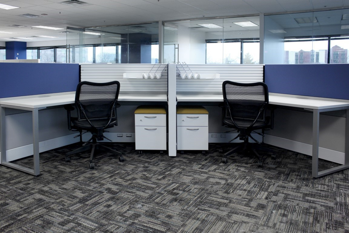 Workstations at the Travel Company offices